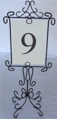 table numbers holders