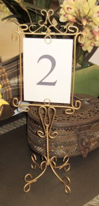 Wedding Table Number Holders