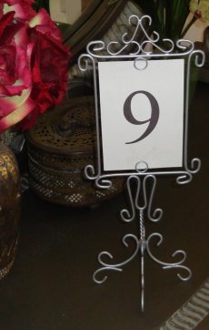 Table Number Holders Wedding
