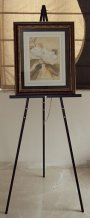 floor standing easel with frame sign