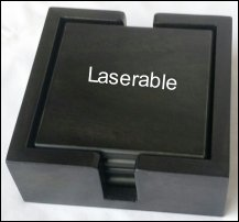 SQUARE BLACK 202 LASERABLE