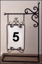 Table Number Holder- Lamp Post Silver Accents